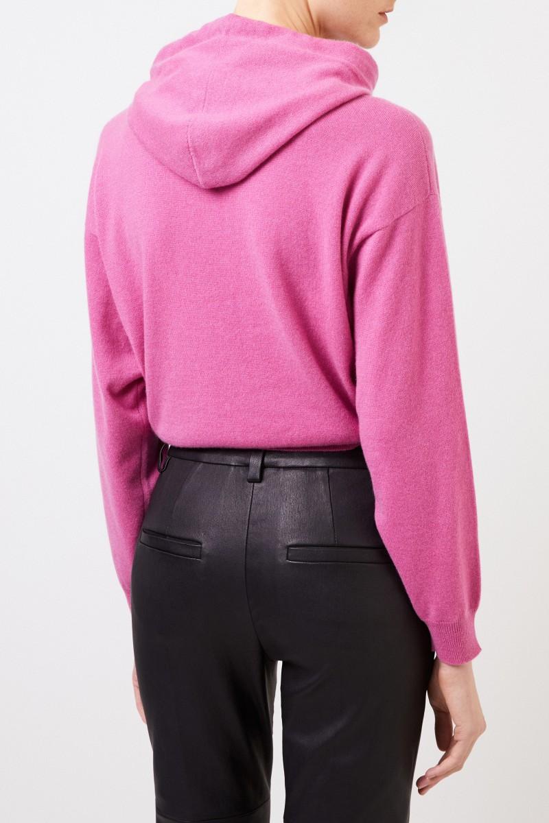 Brunello Cucinelli Cashmere-Pullover mit Kapuze Pink
