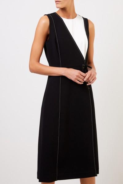 Tory Burch Long wrap dress Black/White