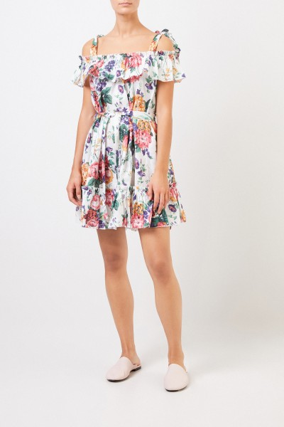Zimmermann Linen dress with floral print White/Multi