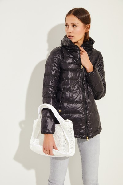 Down jacket with stand-up collar Black