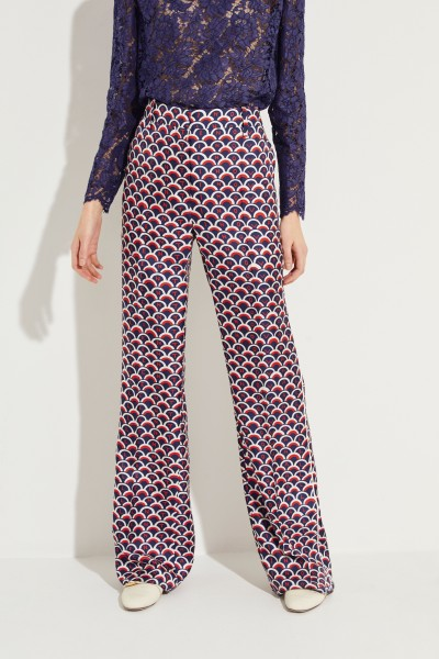 Patterned silk trousers Multi