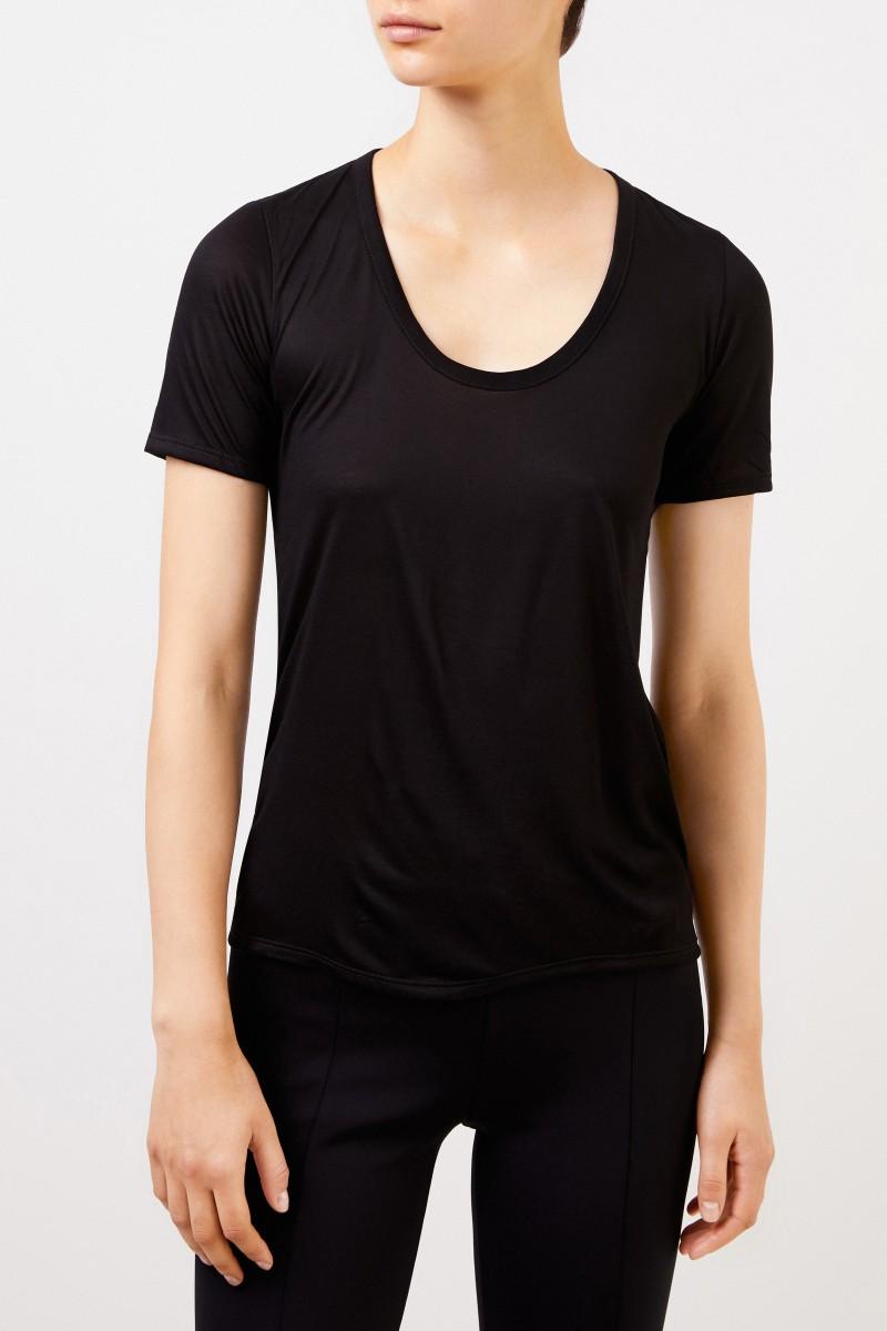 The Row Basic-Shirt 'Stilton' Schwarz