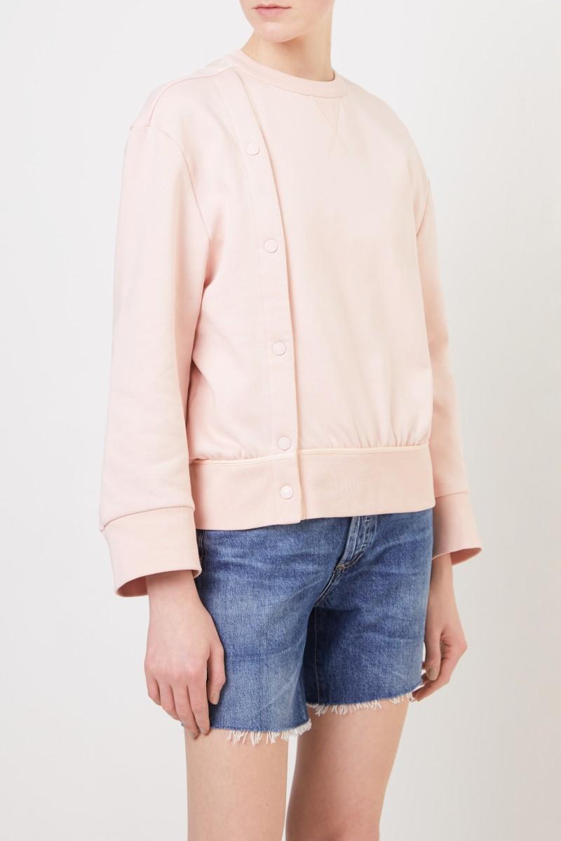 Moncler Sweatshirt mit Knopfleiste Rosé