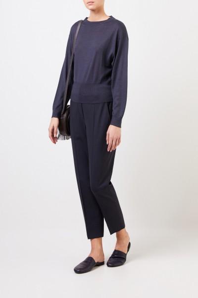 Cashmere-silk sweater Dark blue