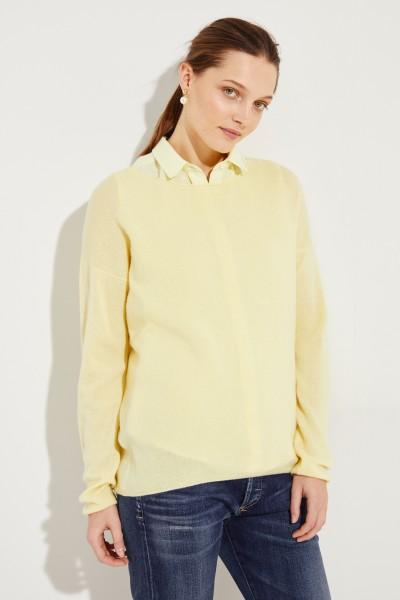 Oversize Cashmere-Pullover 'Cayo' Gelb