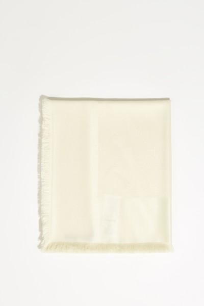 Seiden-Woll-Tuch Créme
