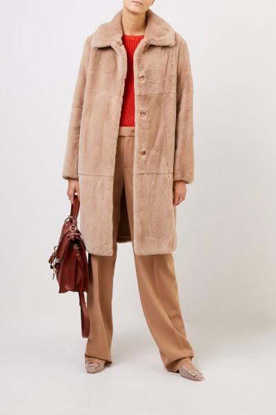 Fur coat Taupe