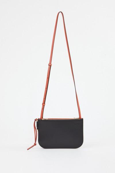 Loewe Shoulder Bag 'Gate Double Zip' Black/Coral