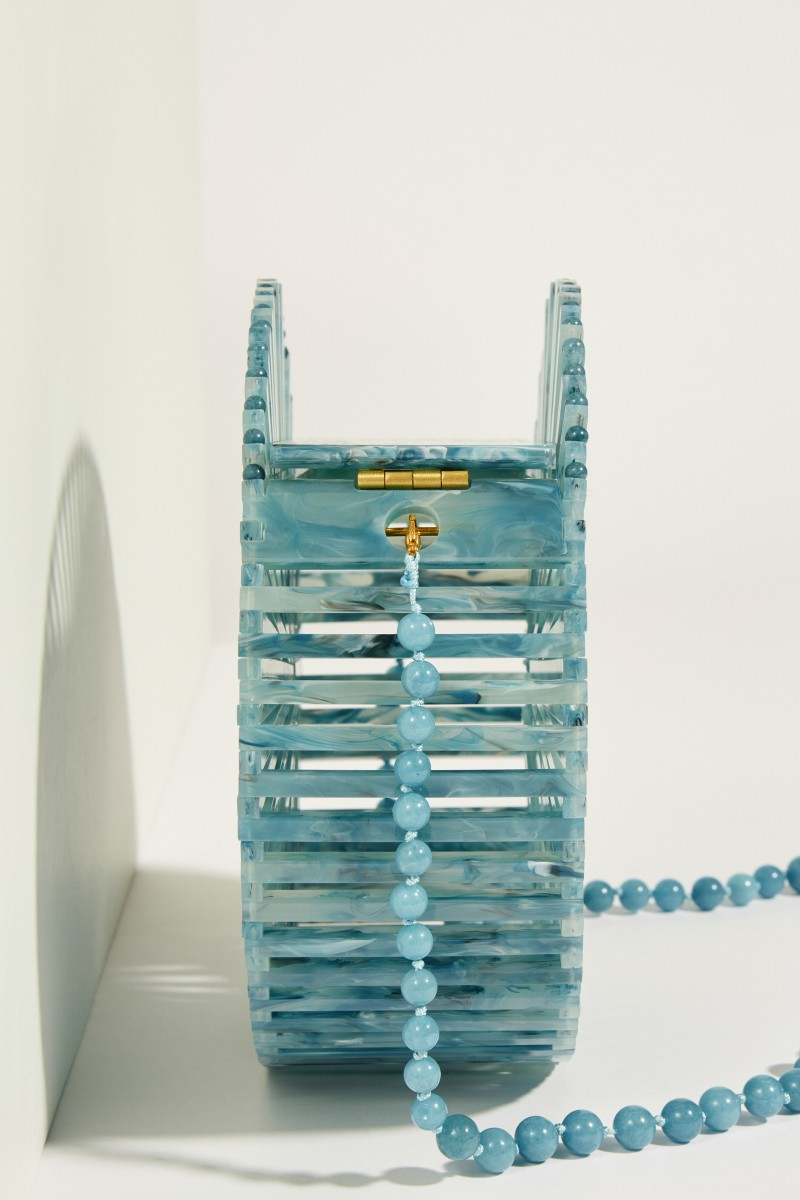 Shoulder Bag 'Acrylic Luna' Blue