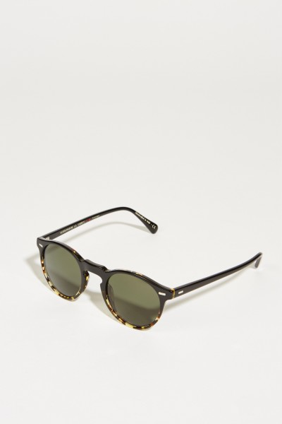 Sunglasses 'Gregory Peck' with pattern Black