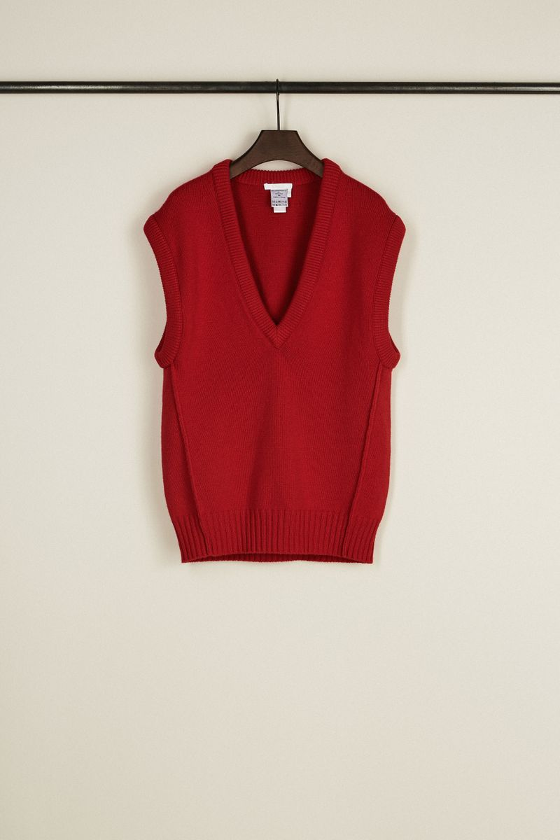 Cashmere-Woll-Pullover Rot