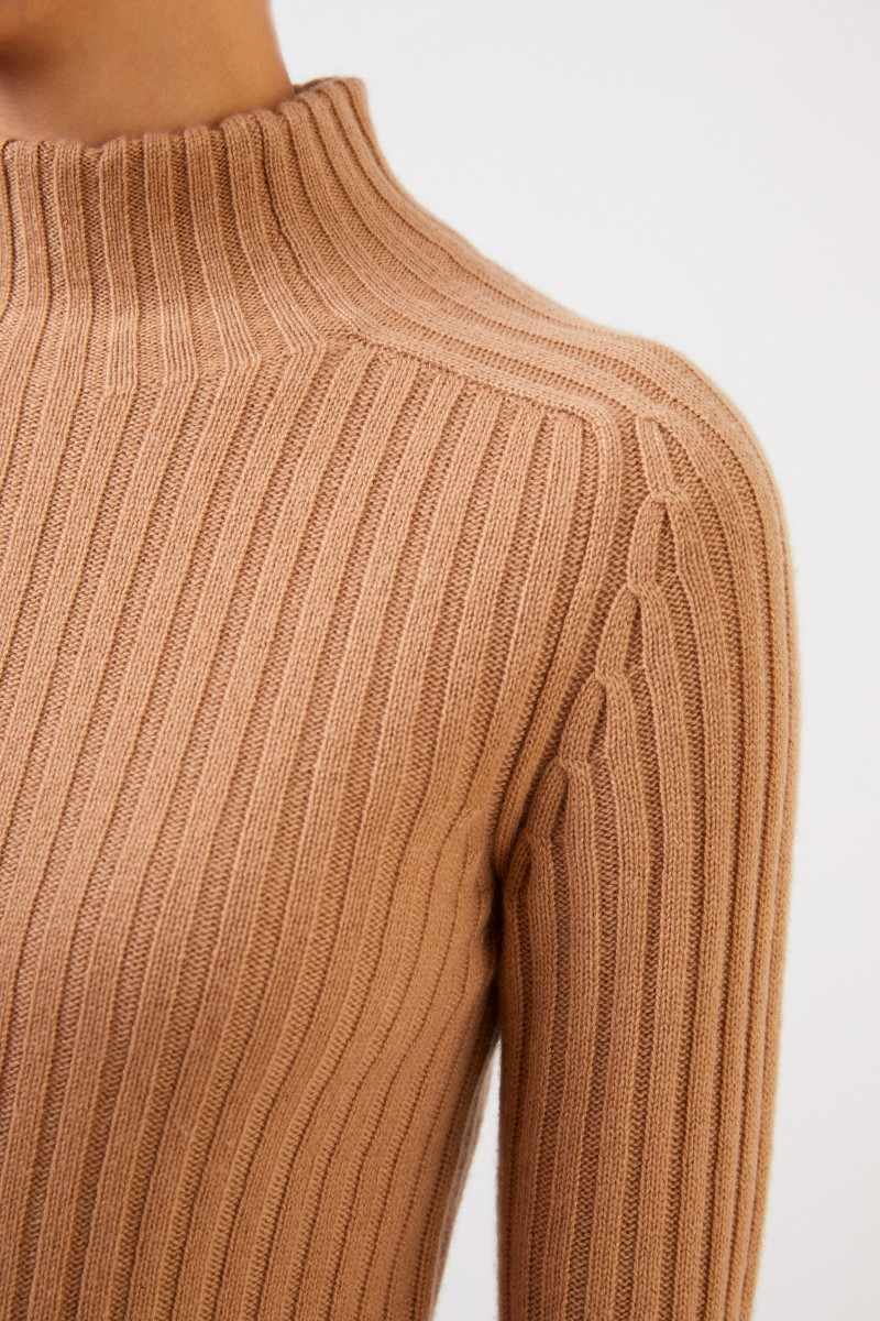 Rippstrick Cashmere-Pullover 'Ciela' Camel
