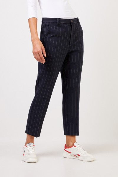 Ganni Classic pants with pinstripe Navy Blue