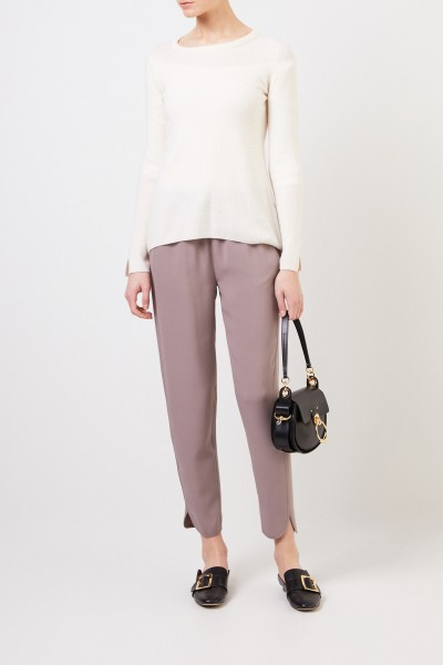 Cashmere-silk sweater 'Tami' Cream