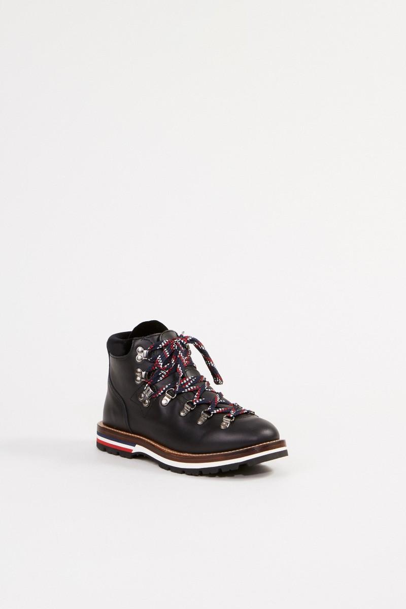 Moncler Boots 'Blanche' mit Samtdetails Schwarz