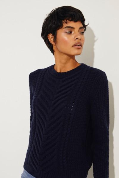 Cashmere-Pullover 'Beverly' Marineblau