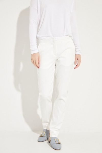 Hose mit Struktur Weiß
