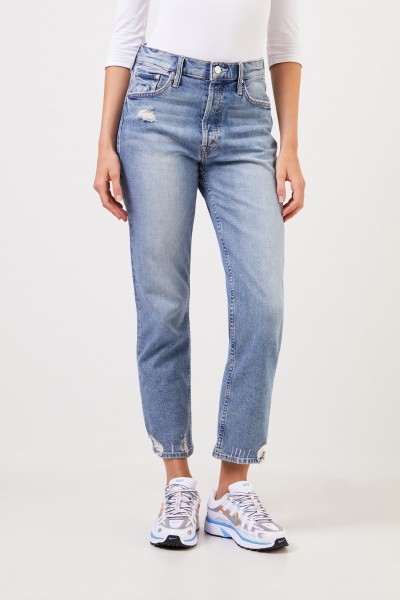 Mother Denim Jeans 'The Tomcat Jean' im Used-Look Hellblau