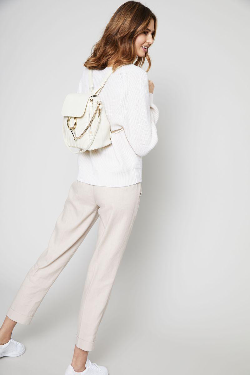 Rucksack 'Faye Small' mit Steppungen Natural White