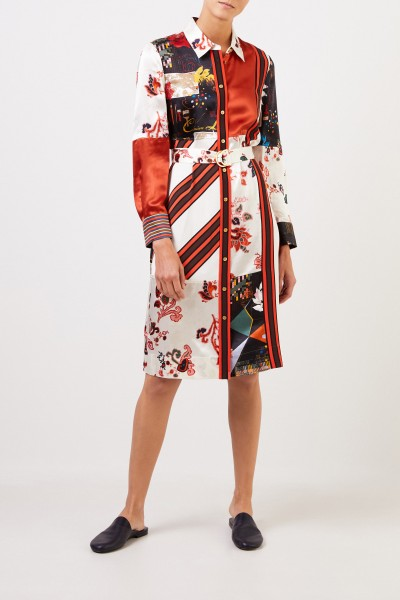 Tory Burch Shirt blouse dress with Patchwork Multi