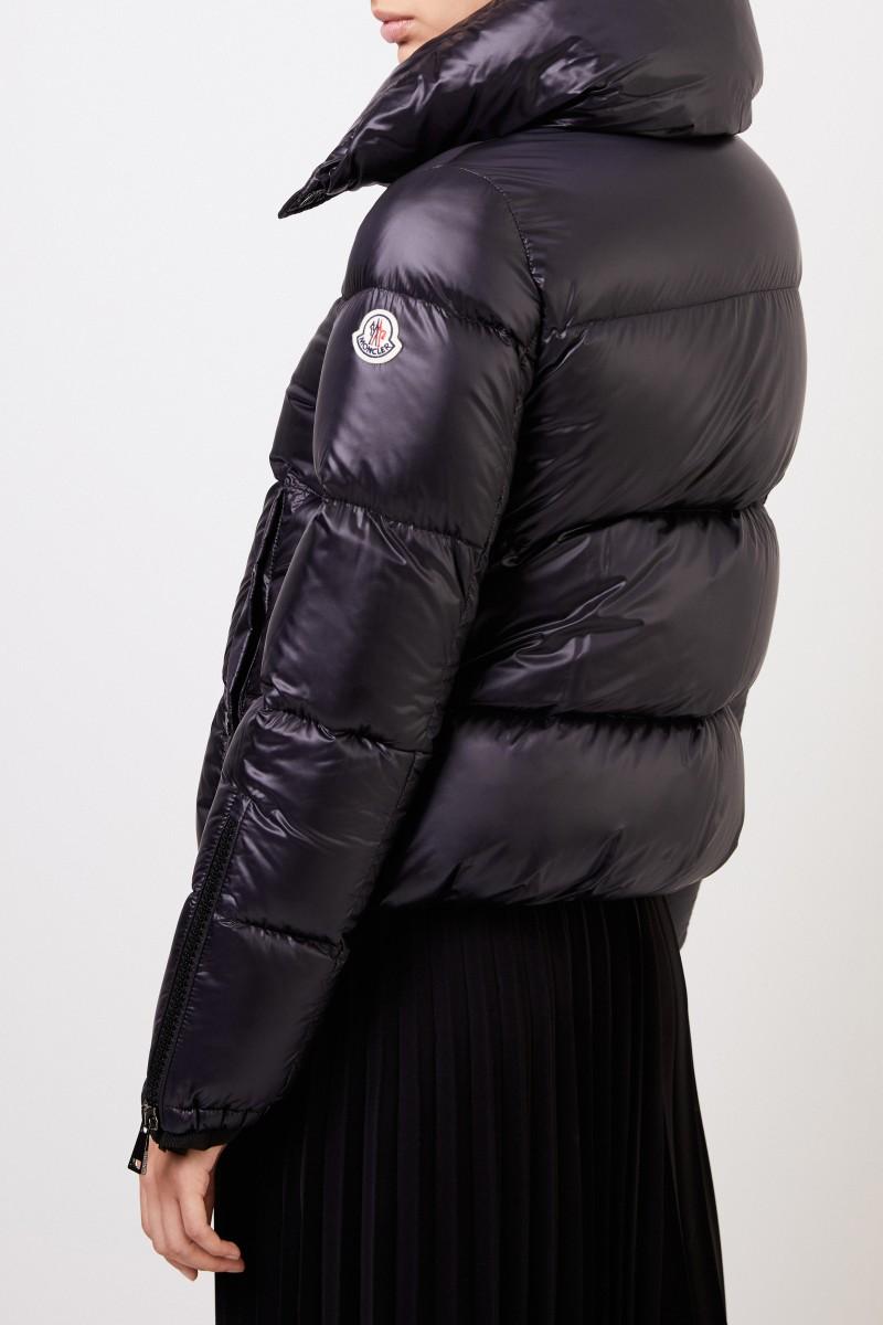 Moncler Daunenjacke 'Bandama' mit breitem Kragen Schwarz