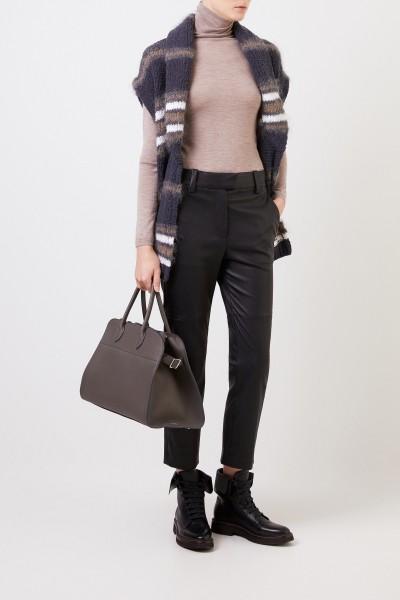 Classic leather pants Black