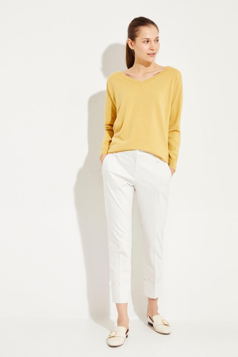 Cashmere-Pullover Gelb