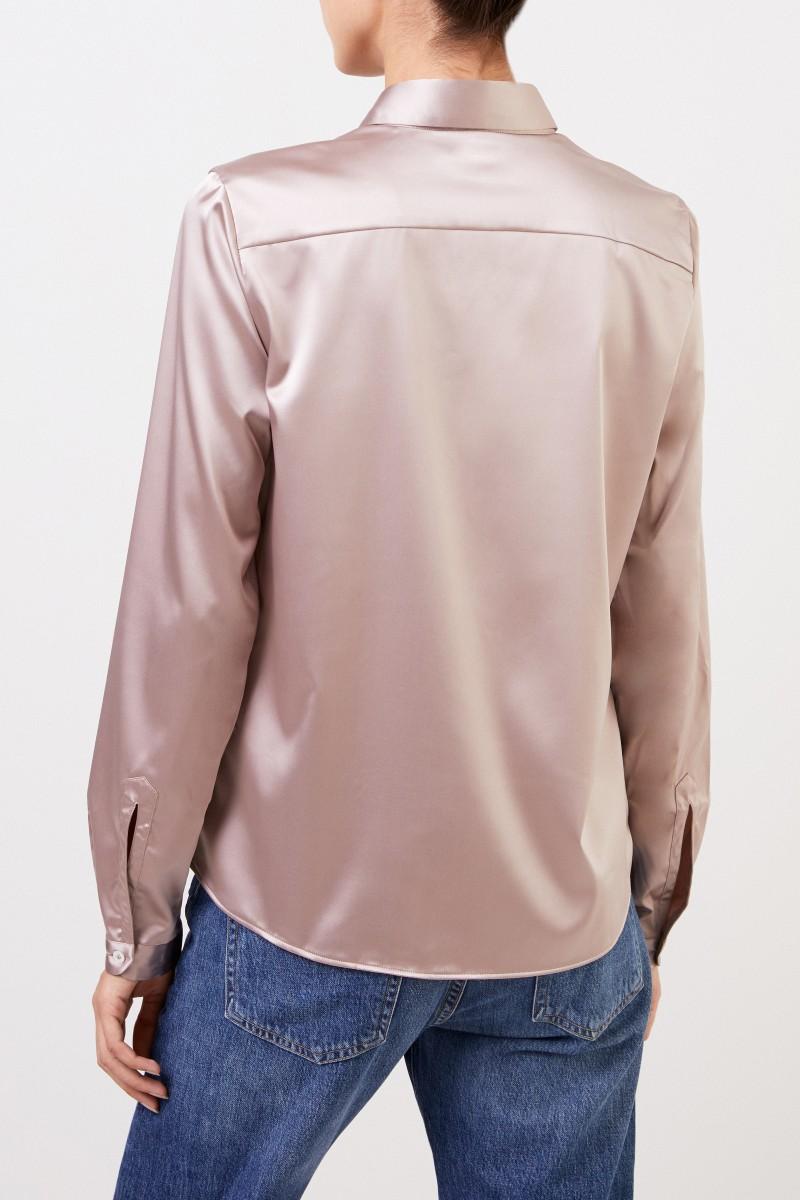 Bluse 'Asias' mit leichtem Glanz Taupe