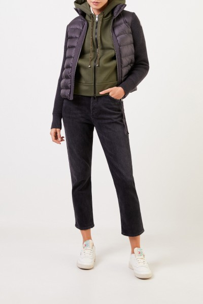 Moncler Down jacket with knit Anthracite