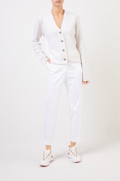 Klassische Baumwoll-Hose Weiß