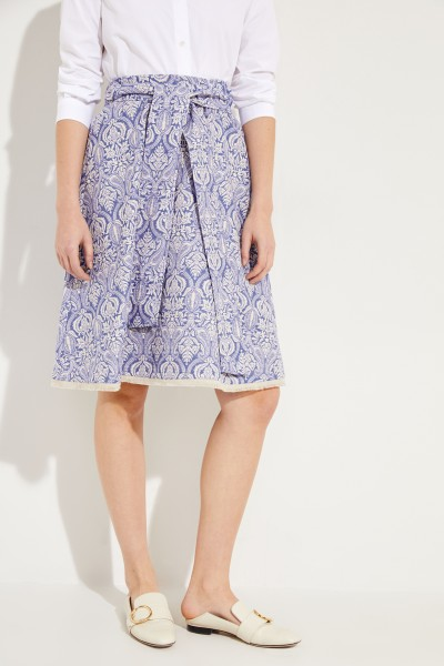 Jacquard skirt Blue/White