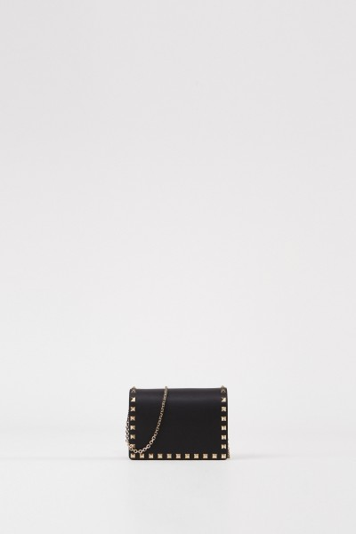 Shoulder bag with spikes Black