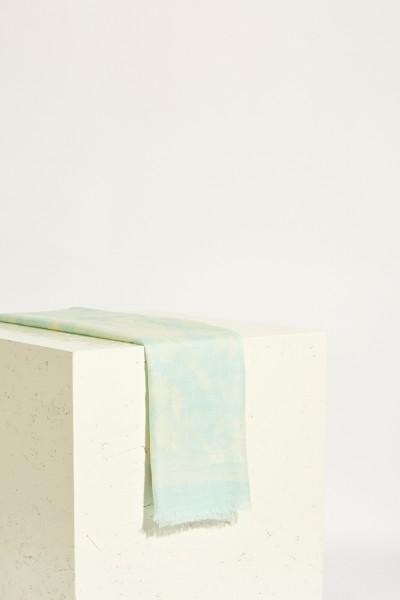 Schal 'Antonia' mit floralem Druck Mint/Crème