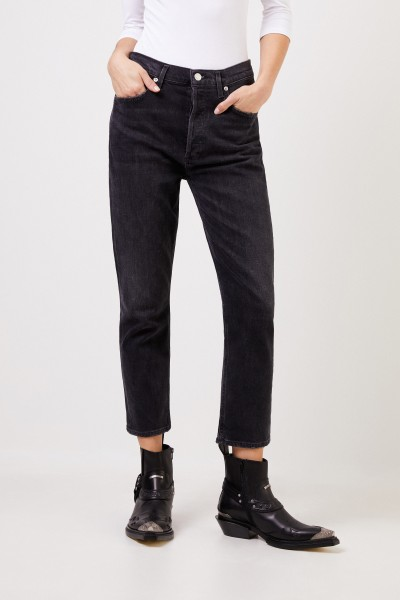 AGOLDE Highrise-Jeans 'Riley' Anthrazit