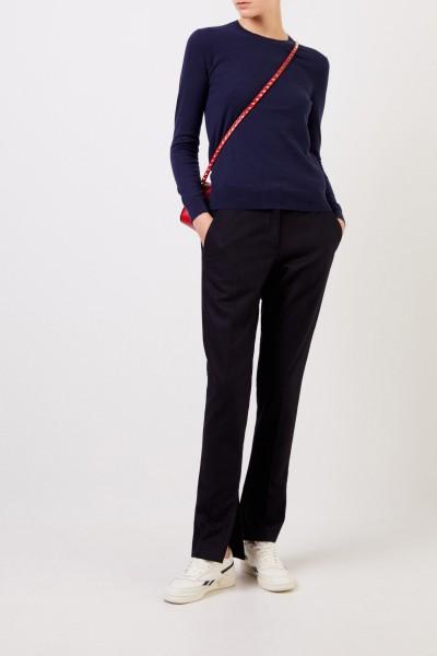 Cashmere-Pullover 'Iberia' mit Knopfdetails Marineblau