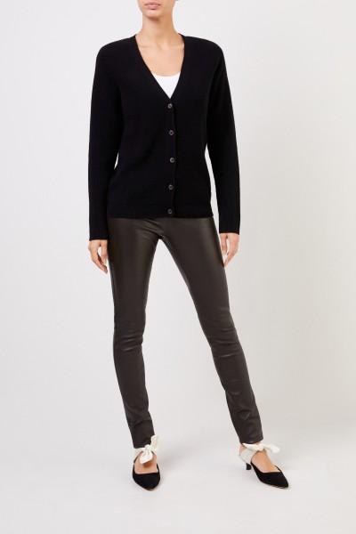 Classic leather leggings Black