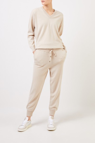 Colombo Cashmere-Hose Beige