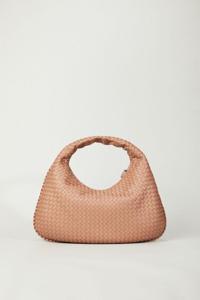 Geflochtener Shopper 'Venetia Hobo Medium' Altrosé