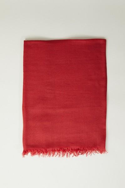 Cashmere-Seiden-Schal Rot