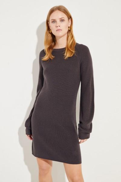 Seiden-Cashmere-Kleid Braun