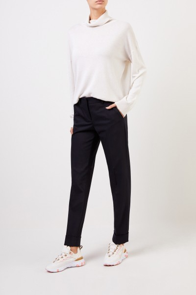 Pleated trousers 'Allison' navy blue