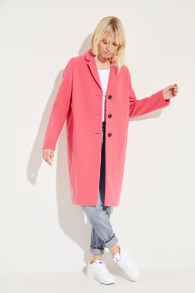 Kurzer Woll-Mantel Pink
