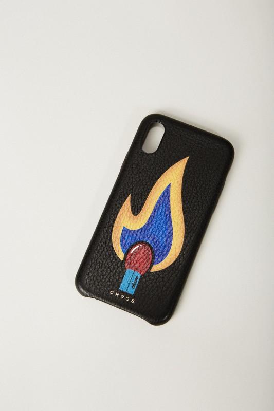 Iphone Case X mit rückseitigem Logodruck Schwarz