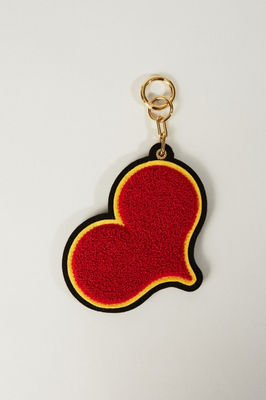 Schlüsselanhänger 'Chenille Heart' Rot