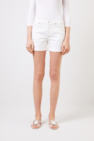 7 for all mankind Klassisches Jeans-Shorts Weiß