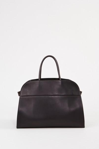 The Row Leder-Handtasche 'Margaux 15' Schwarz