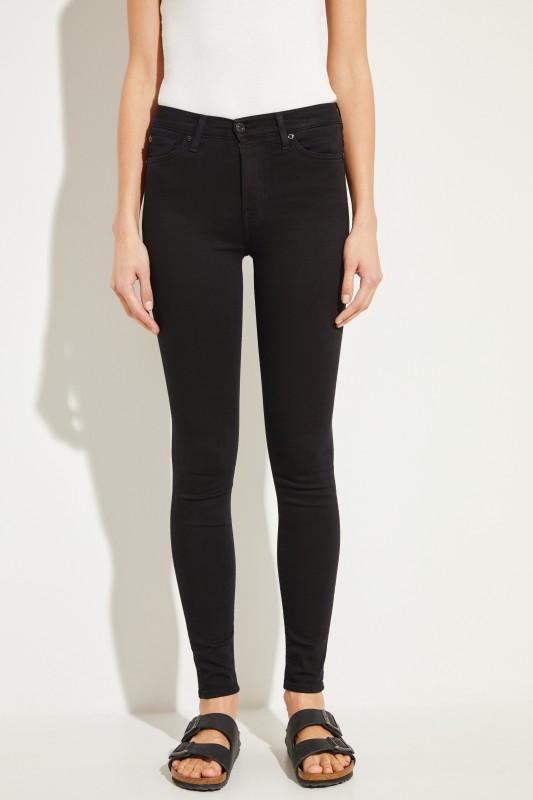 7 for all mankind High Waist Jeans Schwarz