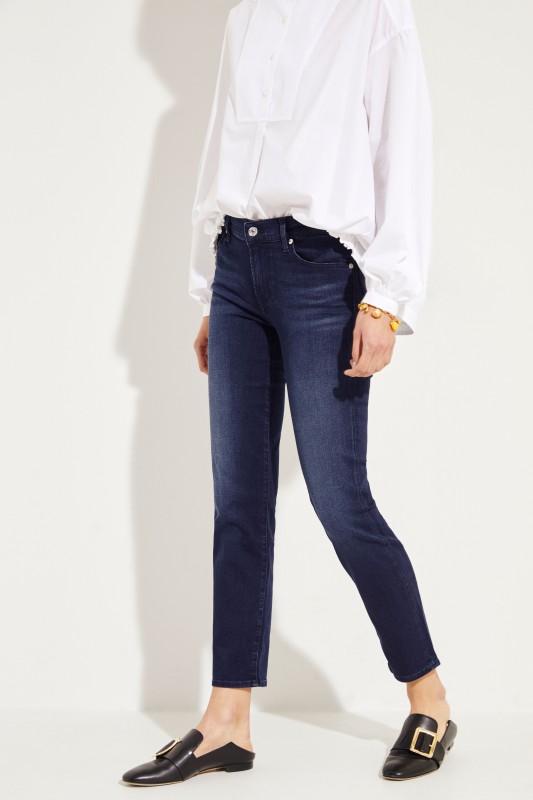 Mid-Rise Skinny Jeans 'Roxanne Crop' Dunkelblau