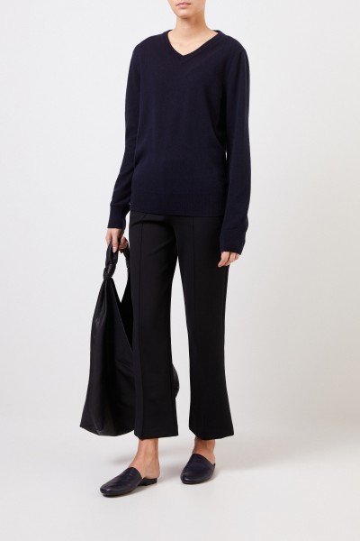 Cashmere sweater 'Maley' with V-Neck Navy Blue