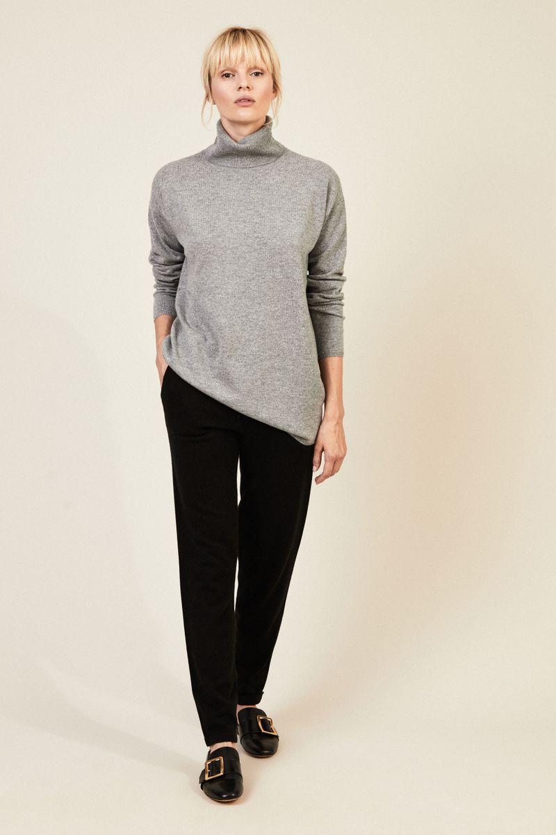 Oversize Cashmere Kleid 'Cleveland' Grau